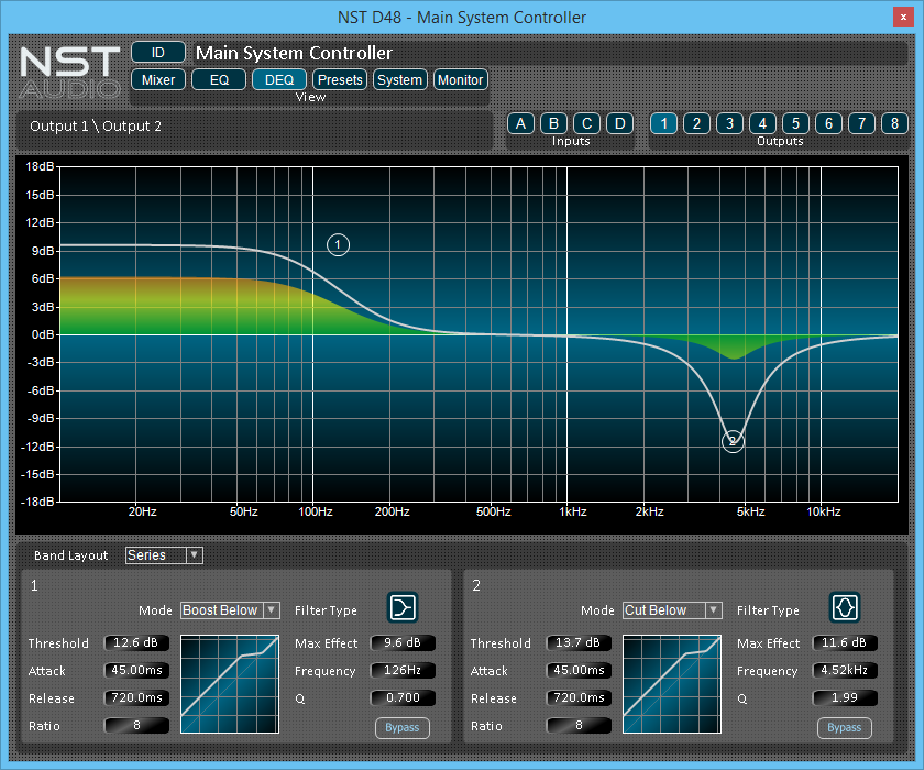 NST Software D48 Dynamic EQ Display