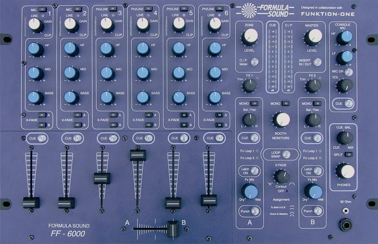 Funktion One FF6000 DJ Mixer