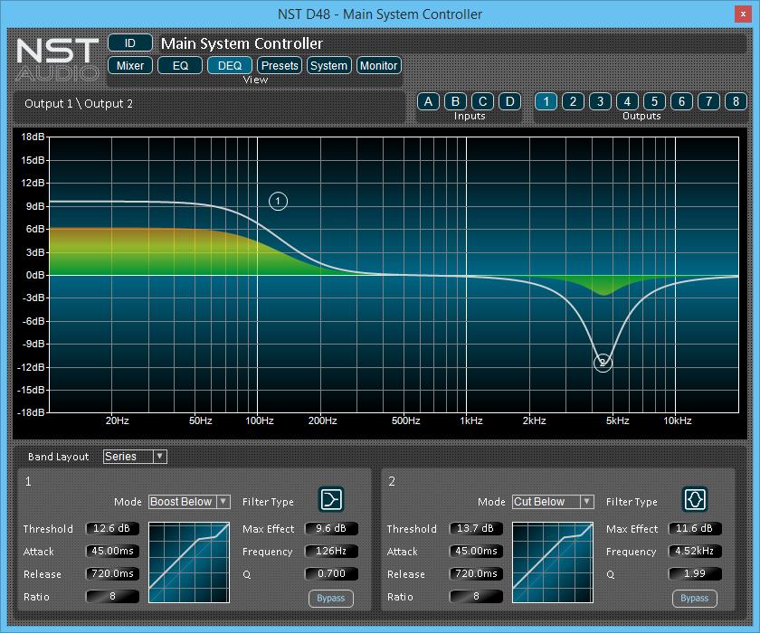 NST Software D48 Dynamic EQ Display