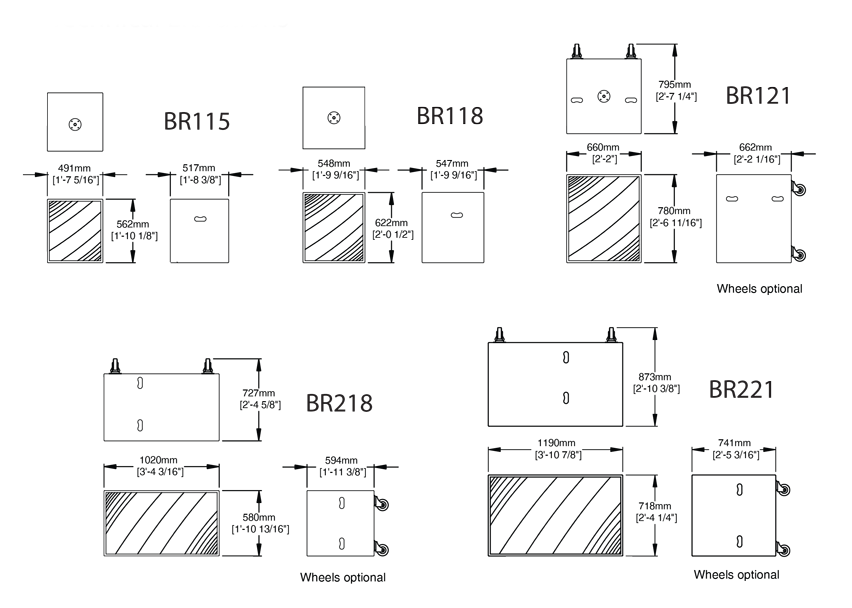 technische tekening BR range